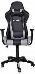 Игровое кресло Bonro 2018 серое 40800017