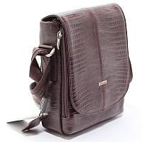 Чоловіча шкіряна сумка Desisan 425-142 коричнева маленька через плече з натуральної шкіри, фото 1
