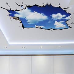Интерьерная наклейка 3D Голубое небо  (60х90см)