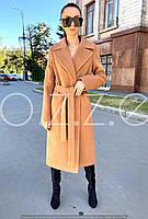 Весеннее пальто халат из шерсти кемел O.Z.Z.E Д 327