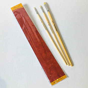 Набір пензлів для малювання Сонет №5 щетина 3 шт