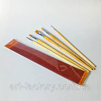 Набор кистей для рисования Сонет №3  синтетика 5 шт