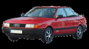 Дефлектор на капот (Мухобойки) для Audi (Ауди) 80 B3 1986-1991