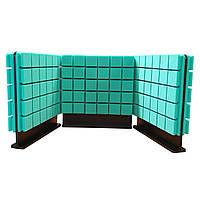 Комплект акустичних ширм на стіл для колл-центрів Ecosound Tetras Green 60х60 см 3 шт. зелений, фото 1