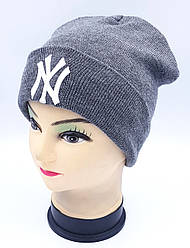 Детская вязаная шапка Klaus Объемная вышивка 53-55см (301-ВА)