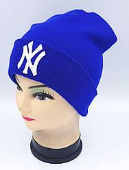 Детская вязаная шапка Klaus Объемная вышивка 53-55см (302-ВА)