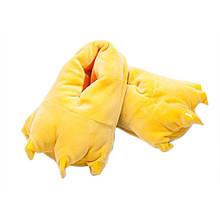 Тапочки Когти желтые, стильные тапки Когти цвет желтый