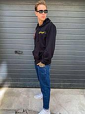 Кофта на блискавці з каптуром, толстовка, худі , великі розміри унісекс дизайнерська брендовий ED HARDY, фото 3