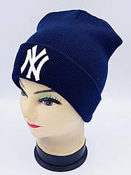 Детская вязаная шапка Klaus Объемная вышивка 53-55см (303-ВА)