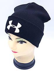 Детская вязаная шапка Klaus Объемная вышивка 53-55см (304-ВА)