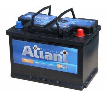 Аккумулятор автомобильный ATLANT 6СТ 75Ач (R+) 680 А Польша