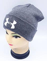 Детская вязаная шапка Klaus Объемная вышивка 53-55см (306-ВА)