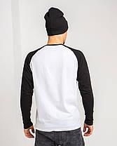 Футболка с длинным рукавом рукавом цвет Premium Черно-белый, фото 2