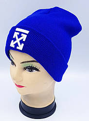 Детская вязаная шапка Klaus Объемная вышивка 53-55см (309-ВА)