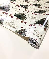 Новогодняя бумага в рулоне 10 метров, арт 12