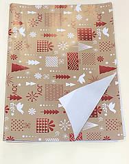 Новогодняя бумага для упаковки  в листах арт 31