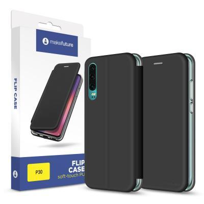 Чехол для моб. телефона MakeFuture Flip Case (Soft-Touch PU) Huawei P30 Black (MCP-HUP30BK)