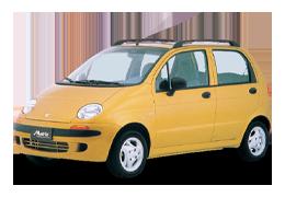 Дефлектор на капот (Мухобойки) для Daewoo (Дэу) Matiz M100 1998-2004