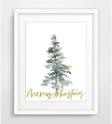 Новогодний плакат Gold Merry Christmas формат А3