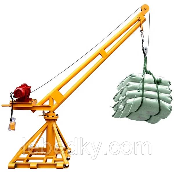Мини - кран строительный Пионер г/п  500 кг, вылет стрелы 1,8 м