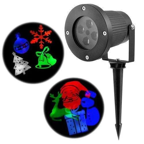 Светодиодный уличный лазерный проэктор на 12 изображений