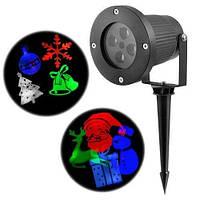 Светодиодный уличный лазерный проэктор на 12 изображений, фото 1