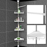 Угловая полка в ванную комнату (220-260 см) угловые полки для ванной комнаты | этажерка в ванной комнате, фото 1
