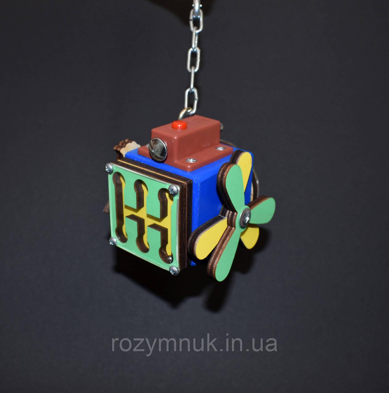 Бизикуб 5*5 развивающий по методеке Монтессори бізікуб  бизикубик синий