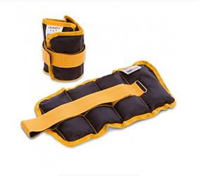 Утяжелители для рук и ног Champion 2 шт по 1 кг черно-желтый