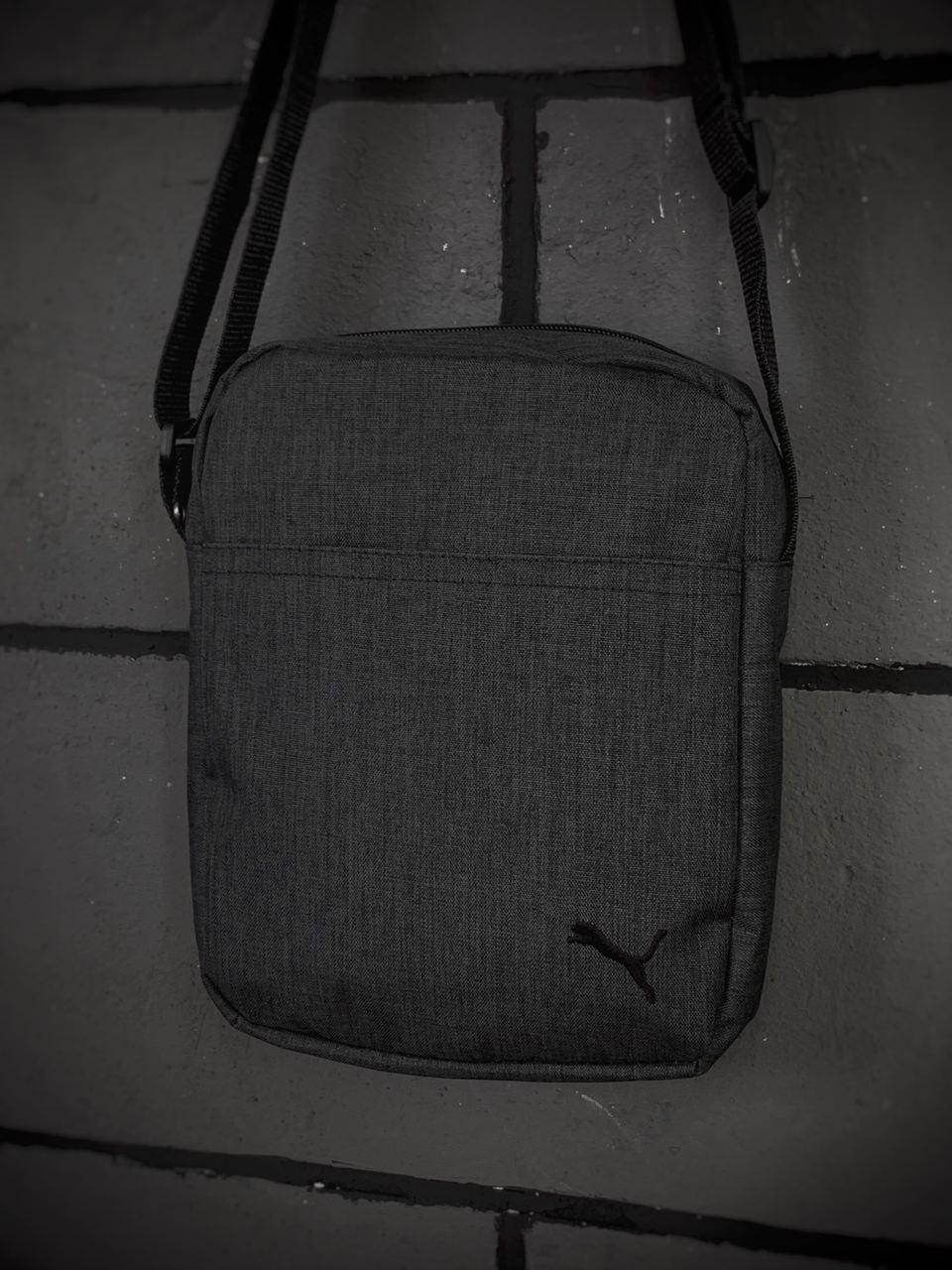 Барсетка Puma Мужская пума темно серая сумка через плечо