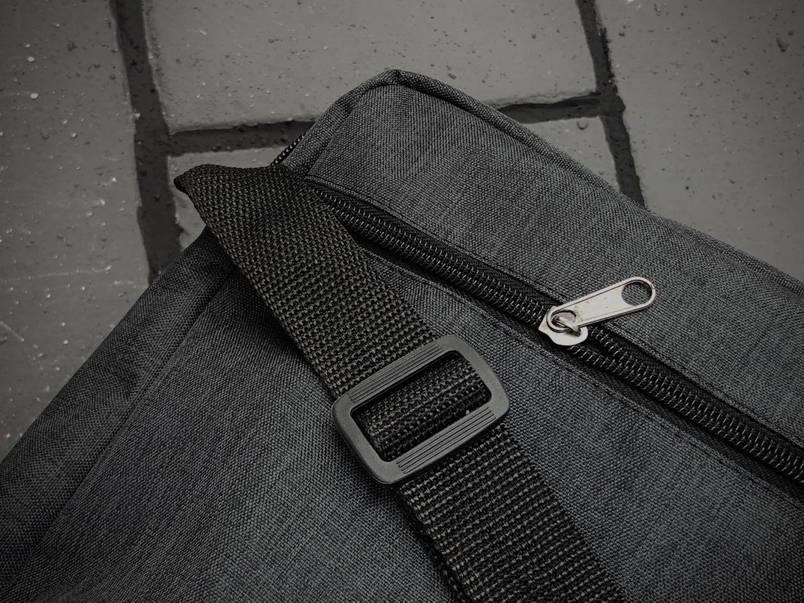 Барсетка Puma Мужская пума темно серая сумка через плечо, фото 2