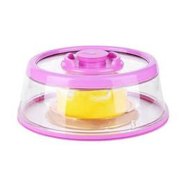 Вакуумная Крышка круглая для миски тарелки сковородки сохраняет продукты свежими 25см UKC Vacuum Food Sealer