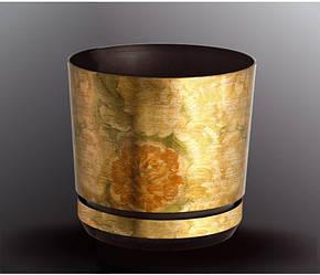 Декоративный горшок для цветов Plastidea 125 мм. Цвет 30