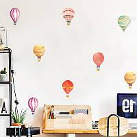"""Интерьерная наклейка на стену, мебель """"Воздушные шары"""" цвет оранжевый"""