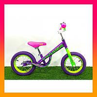 Дитячий беговел велобіг від Crosser Balance Bike New 14 дюймів фіолетовий. Велосипед без педалей для дітей від 3лет