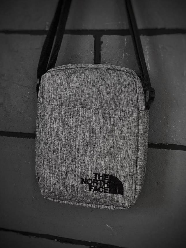 Барсетка Мужская The North Face TNF ТНФ серая сумка через плечо, фото 2