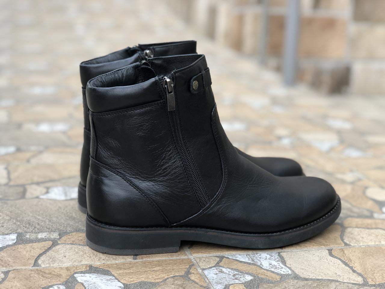 Кожаные мужские ботинки Mida 14232 чер размеры 40,42,44