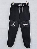 """Спортивные штаны утепленные детские """"Jordan"""" 3-7 лет Серые вставки Оптом"""
