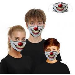 Маска тканевая Клоун