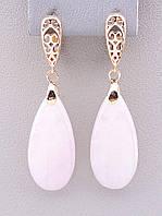 095941 Серьги 'Pataya' Розовый кварц (позолота 18к)