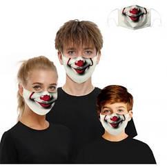 Маска тканевая Клоун 2