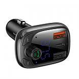 Автомобильный FM-модулятор Baseus Fresh-2020 Bluetooth (5.0) MP3 c функцией зарядного устройства и вольтметром, фото 2