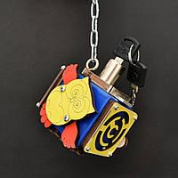 Бизикуб 5*5 развивающий по методеке Монтессори бізікуб  бизикубик синий с ключиком, фото 1