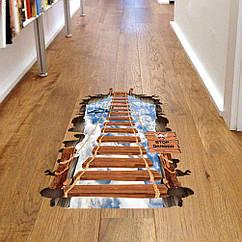Интерьерная наклейка 3D Деревянный мост  (60х90см)