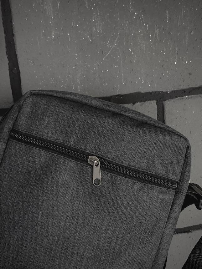 Барсетка Мужская The North Face TNF ТНФ темно серая сумка через плечо, фото 2