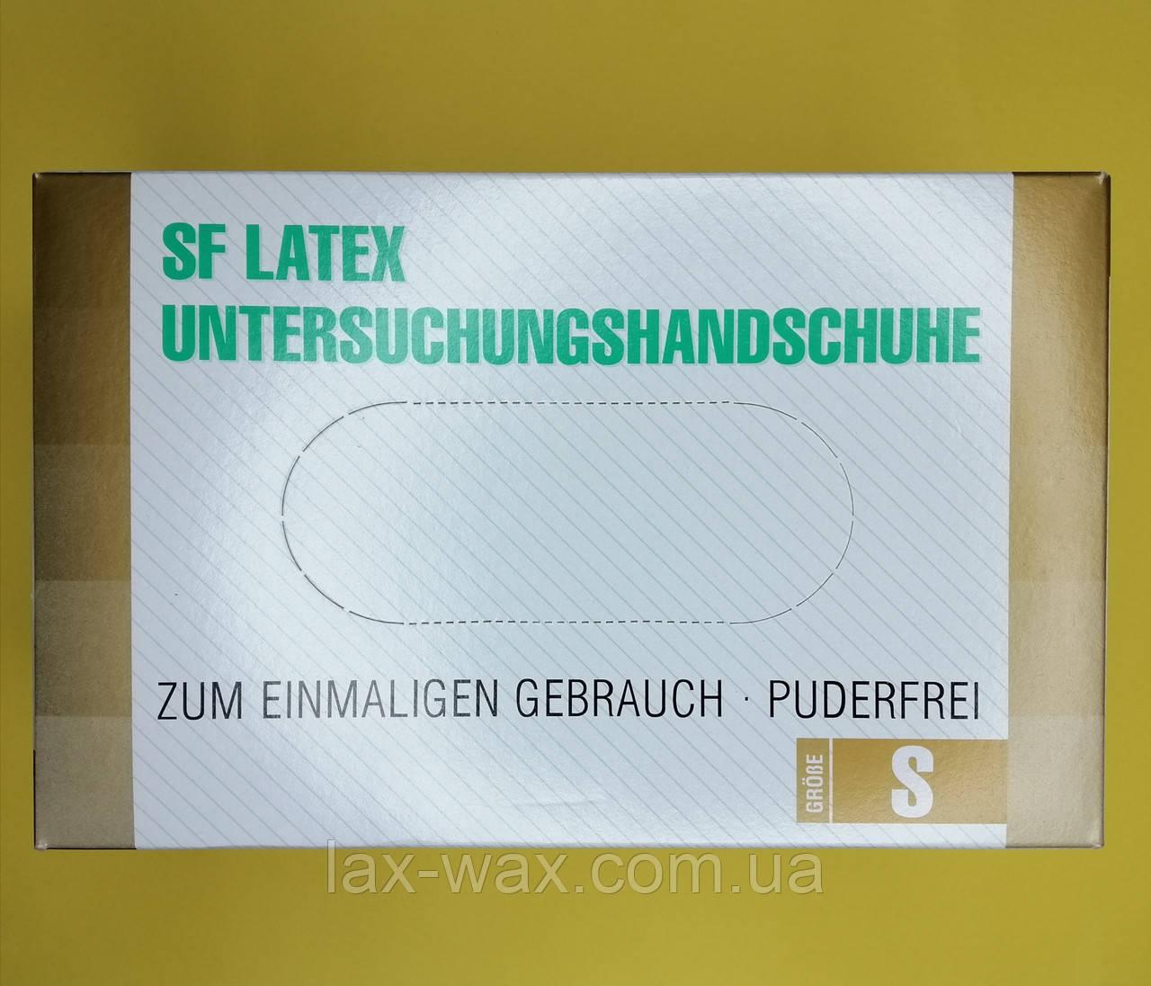 Перчатки латексные SF Medical Products (без пудры) (S)
