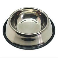 Миска для собаки нержавеющая металлическая круглая 22 см