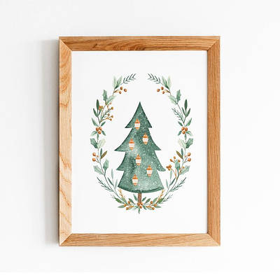 Новорічний плакат Christmas tree формат А3