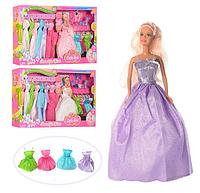 Детский набор с куклой с гардеробом, одеждой и аксессуарами Defa 8027