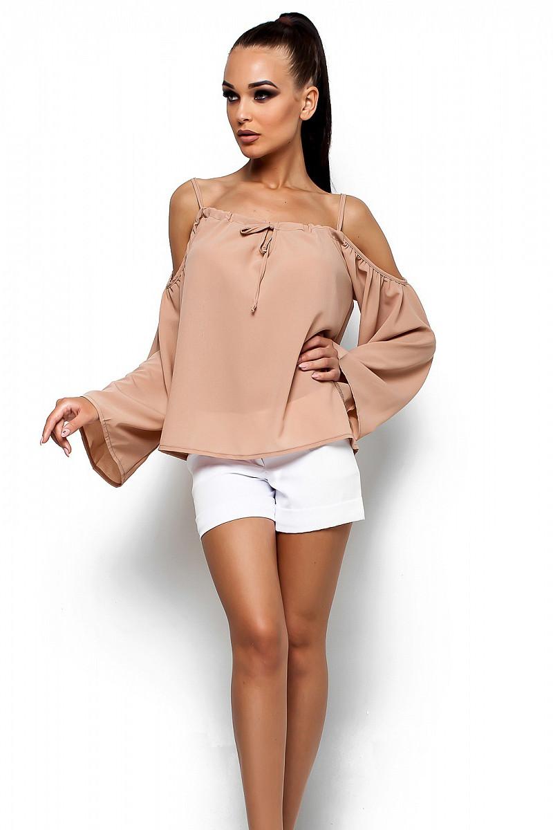 S-M   Жіноча вільна блузка Yanina, бежевий